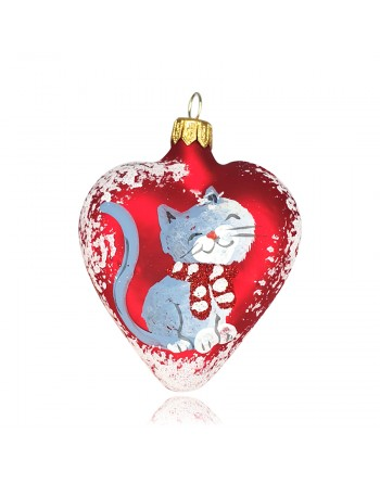 Bombka serce 10 cm dekor...