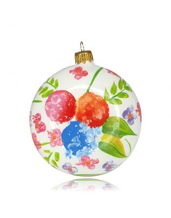 Bombka medalion 10 cm dekor...