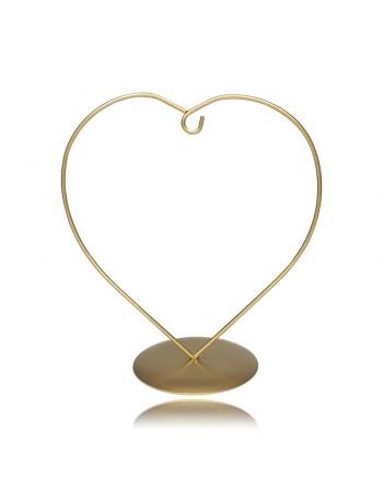 Stojak złoty serce 10 cm do...